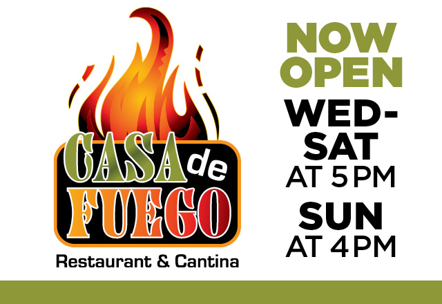 Casa de Fuego Now Open header
