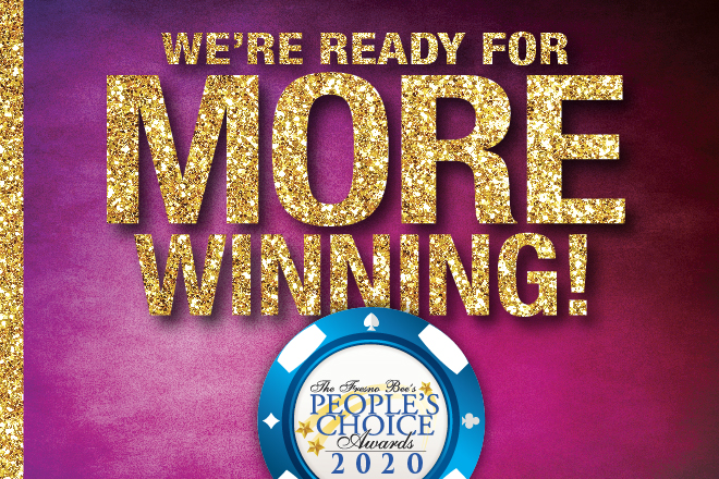 We're Ready for More Winning! Nominate us BEST casino