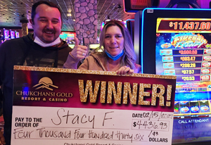 Stacy Fister-Walley $4,436.93 winner from Atwater