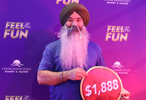 Lachhman S. from Sonora $1,888 winner