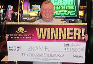 Brian F from Atwater $10,500