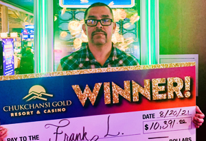 Frank L from Merced $10,391